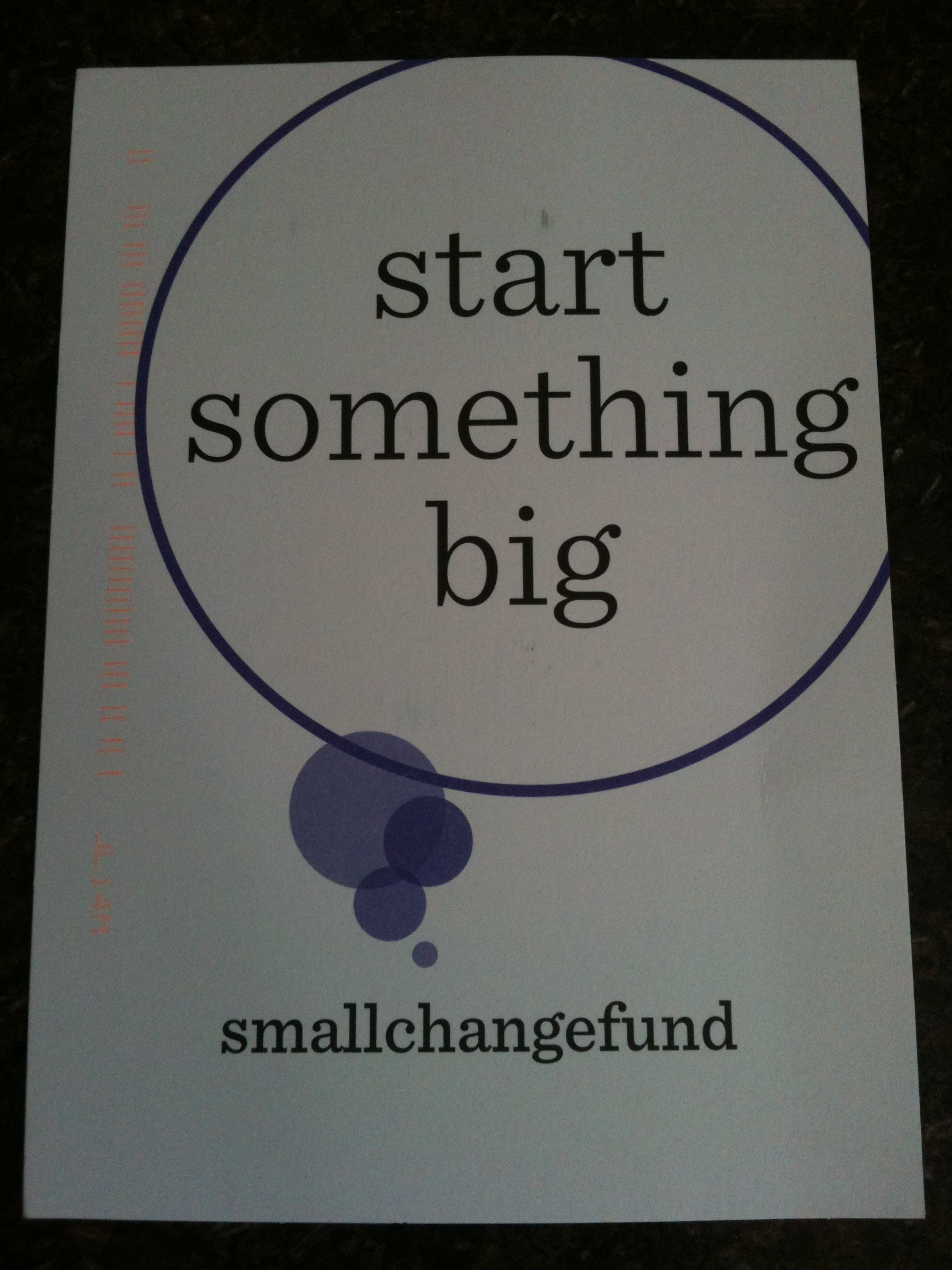 How does it feel? Update: Small Change Fund Thank You Notes